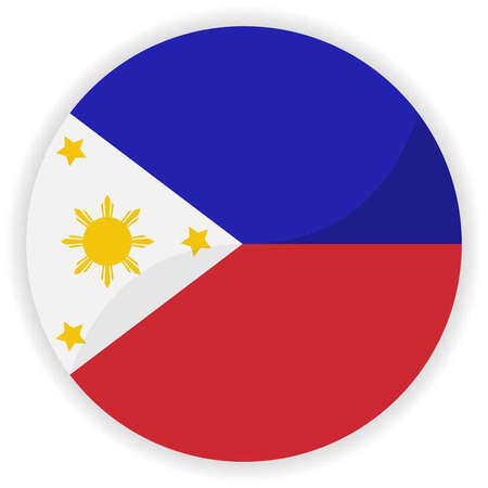 Philippines flag button Illustration