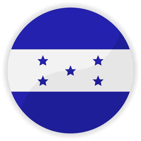 bandera honduras: Bot�n de la bandera de Honduras Vectores