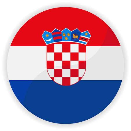 bandiera croazia: Croatia flag button