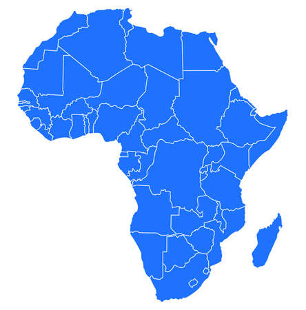 east africa: map of africa