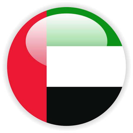 Verenigde Arabische Emiraten vlag sjabloon Stock Illustratie