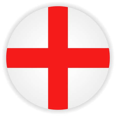 Flag button illustration - England Vector