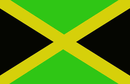 x country: Jamaica Flag Illustration
