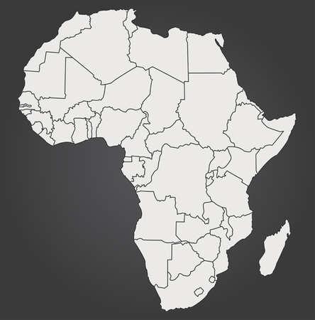 map of africa Фото со стока - 33155379