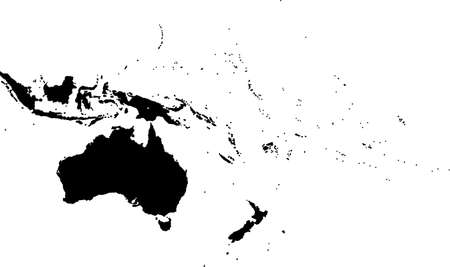 oceania: Oceania map separated on the countries Illustration