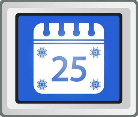 Merry Christmas calendar Vector