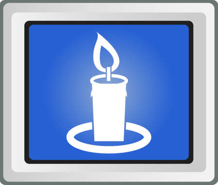 taper: Birthday candle vector icon Illustration