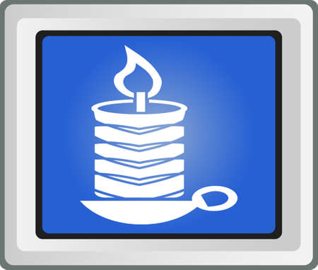 Birthday candle vector icon Vector
