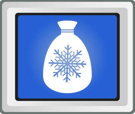 bagful: Christmas Bag With  Snowflake Illustration