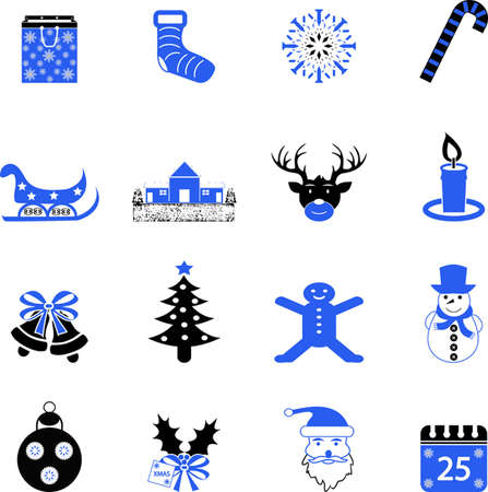 hollyberry: Vector Christmas icons Illustration