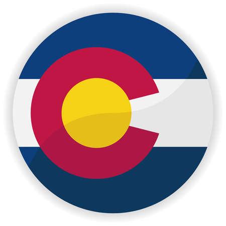 colorado flag: Flag button illustration - Colorado