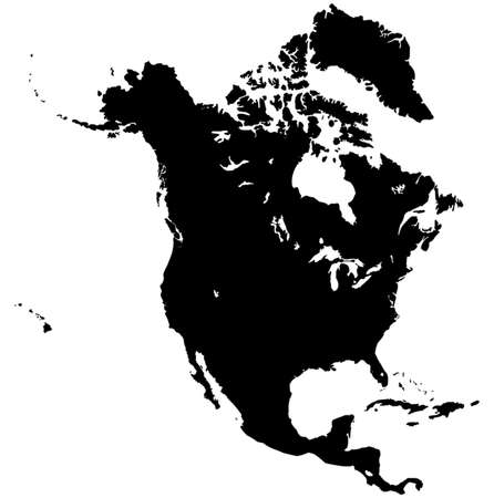 North America Map Фото со стока - 33723564