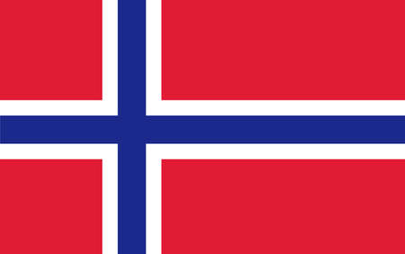 Norway Flag. Vector illustration. Vector
