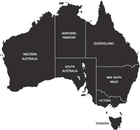 adelaide: Illustration of Australia Map