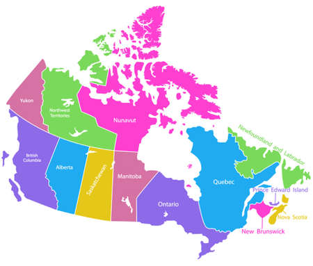 Detailed Vector Map Of Canada Royalty Free Cliparts Vectors And - Us and canada vector map