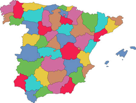 spain map: Colorful Spain map
