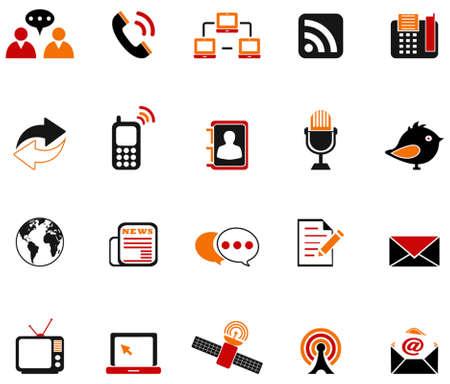 adress book: communication icons