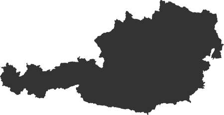 Map of Austria Illustration