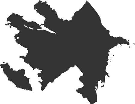 azerbaijan: map of Azerbaijan