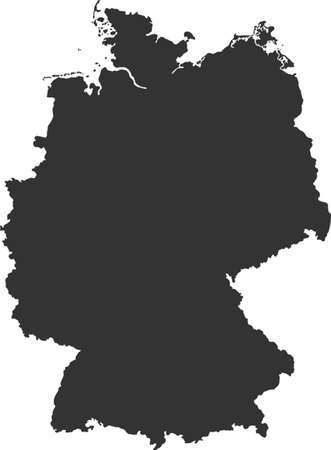 worldrn: map of germany Illustration