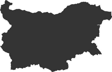 europa: map of Bulgaria