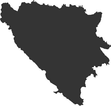 bosnia: map of Bosnia and Herzegovina