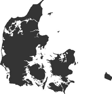 kaart van Denemarken Stock Illustratie