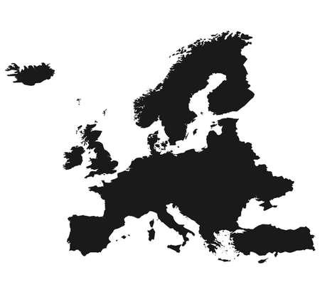 Map of Europe Ilustração