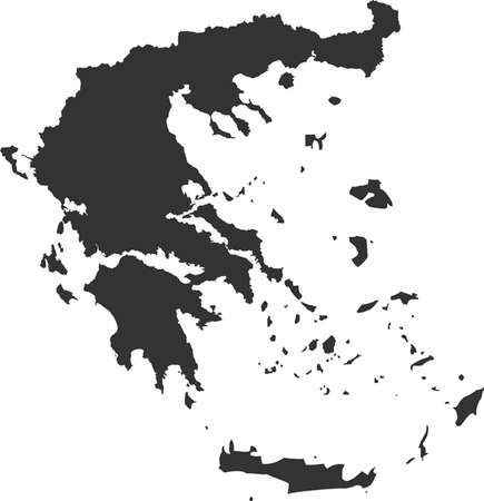 worldrn: map of Greece Illustration