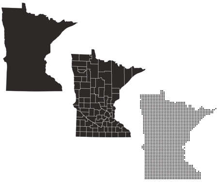 whitern: Dotted and Silhouette minnesota map