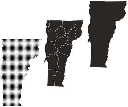 whitern: Dotted and Silhouette vermont map