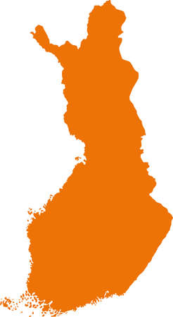 Map of Finland Illustration