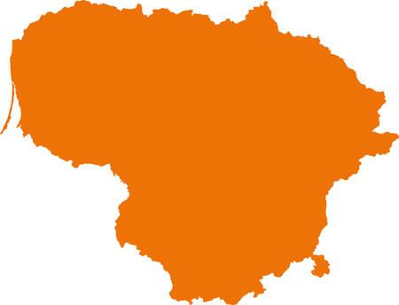 orange county: map of Lithuania Illustration
