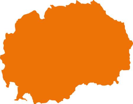 lake district: map of Macedonia Illustration