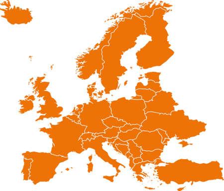 유럽의지도 일러스트