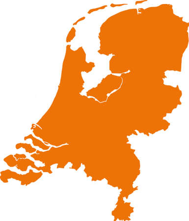 Map of the Netherlands 版權商用圖片 - 36792348