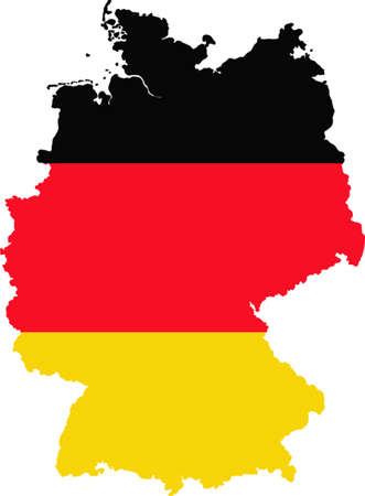 yellowrn: Map and flag of Germany