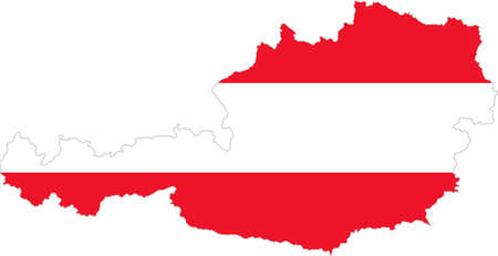 whitern: Map and flag of Austria