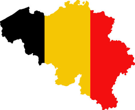 Map and flag of Belgium