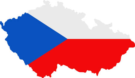whitern: Map and flag of Czech Republic