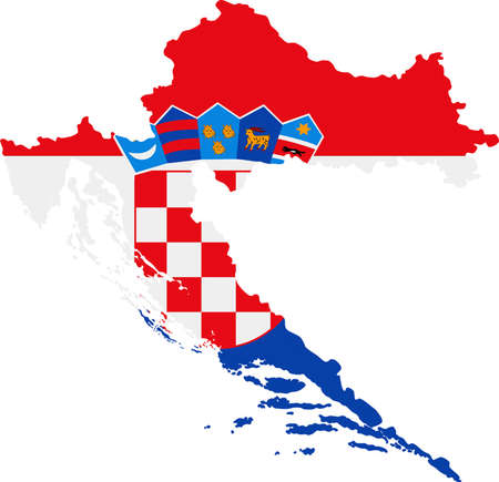 worldrn: Map and flag of Croatia