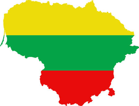 worldrn: Map and flag of Lithuania