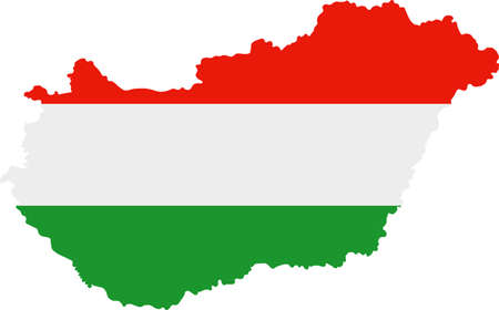 worldrn: Map and flag of Hungary