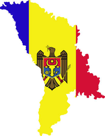 worldrn: map and flag of Moldova