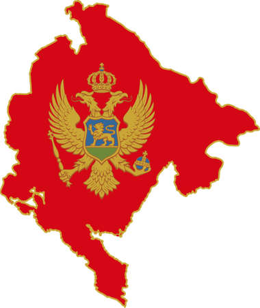 whitern: Map and flag of Montenegro