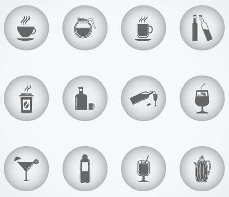 daiquiri: drinks & beverages icons set