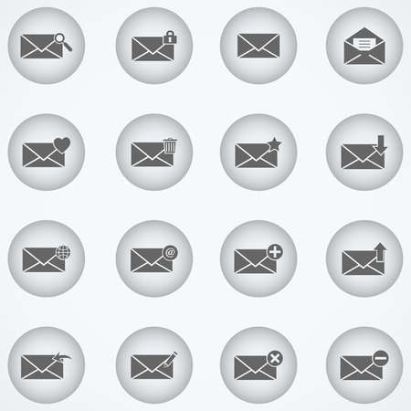 unread: envelope and mail icons - Illustration