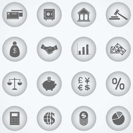 Finance and Banking icons Vector