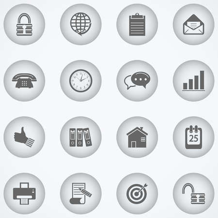 Web and Office Icons Illustration