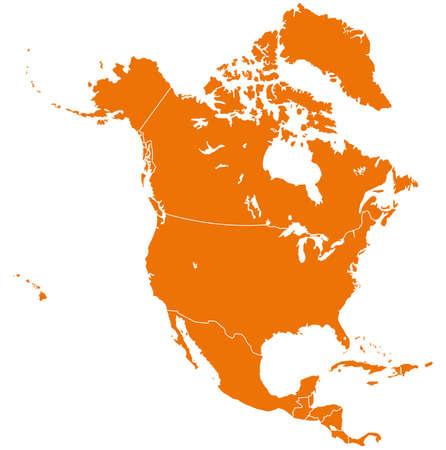 Noord-Amerika Kaart Stockfoto - 36901526